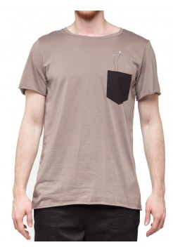 T-shirt pocket beige