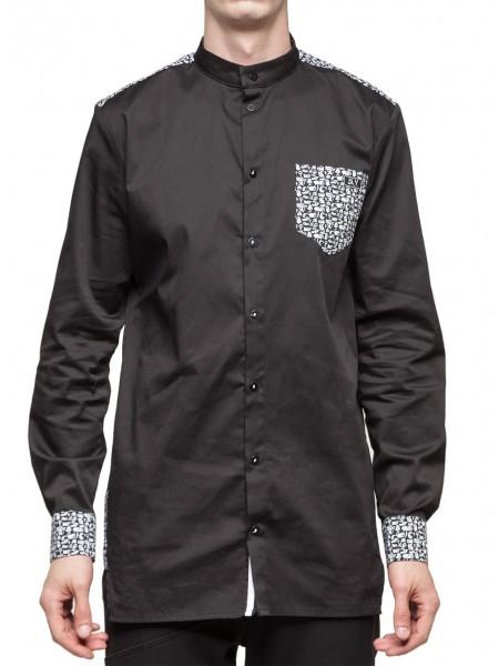 Рубашка black kroko