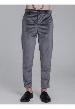 BS031 брюки замша серые