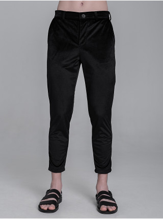BS031 брюки замша черные
