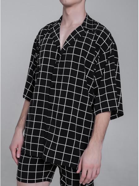 RS012 рубашка клетка
