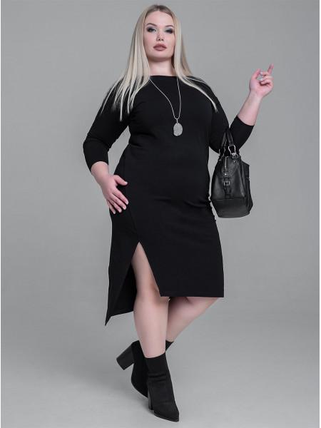 """Платье женское трикотажное с разрезом """"WOW"""""""